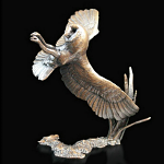 Bronze Barn Owl at Night Limited Edition 250