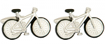 Bicycle with Black Tyres Cufflinks Shiny Rhodium