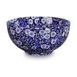 Burleigh Blue Calico Chinese Footed Bowl Small 16cm 6inch