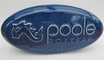 Poole Pottery Poole Branded Pebble Display Sign - Blue Alexis