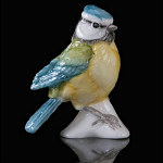 Fine Bone China Bluetit Miniature by Keith Sherwin