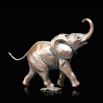 Bronze Baby Elephant Running Limited Edition 200