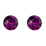 Stud Earrings Diamond Shaped Amethyst