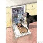 Alex Clark Canine Cleaning Services Tea Towel