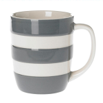 Cornishware - Cornish Colours - Tin Grey Mug 12oz / 34cl