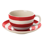 Cornishware - Cornish Red - Breakfast Cup & Saucer