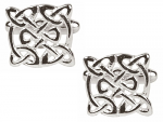 Celtic Round Rhodium Cufflinks