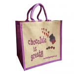 Jute Shopping Bag - Chocolate is Great