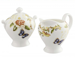 Aynsley Cottage Garden Cream & Sugar
