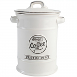 T&G Pride of Place Coffee Jar in White