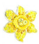Daffodil Lapel Pin Crystal 20mm