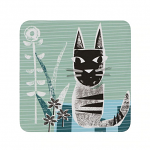 Denby Cat Coasters Set of 6