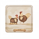 Denby Derbyshire Redcap Chicken Coasters Set of 6