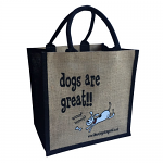 Jute Shopping Bag - Dogs are Great