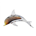 Svaja Paperweight Dolphin Dave Gold & Brown