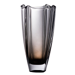 Galway Crystal Dune Onyx Square Vase 10 inch