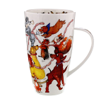 Dunoon Henley Shape Mug - Dogs Frolics - Boxed