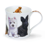 Dunoon Wessex Shape Mug - Puppies Westie & Others - Boxed