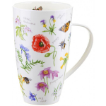 Dunoon Wayside Flowers Henley Shaped Large Mug Boxed