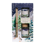 Michel Design Works - Christmas Snow Home Fragrance Reed Diffuser & Votive Candle Gift Set