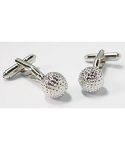Golf Ball Cufflinks - Silver Plated - from Element Gifts
