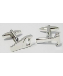 DIY Cufflinks Hammer & Saw - Silver Plated - from Element Gifts