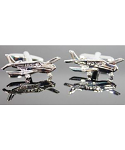 Aeroplane Cufflinks Silver Plated from Element Gifts