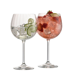 Galway Crystal Erne Copa Gin and Tonic Glasses Set of 2
