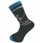Socks for Men - Fishing is for those with a long tackle Socks