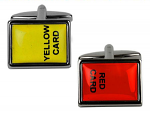 Football Red Card & Yellow Card Cufflinks