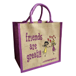 Jute Shopping Bag - Friends are Great