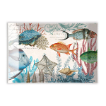 Michel Design Works - Sea Life Rectangular Glass Soap Dish