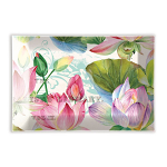 Michel Design Works - Water Lilies Rectangular Glass Soap Dish