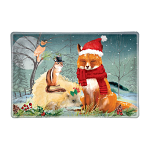 Michel Design Works - Christmas Party Rectangular Glass Soap Dish