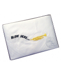 Men's White Handkerchief - Blow Here - Trumpet Motif - Single