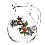 Portmeirion Holly & Ivy Glass Pitcher 6 Pint 3.4 Litre