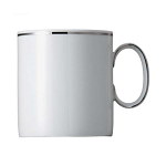 Rosenthal Thomas - Medaillon Platinum Band 2 mm Cup Mug 5 tall 7.5cm