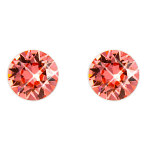 Stud Earrings Diamond Shaped Rose Peach