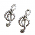 Music Gifts - Treble Clef Earrings - Sterling Silver