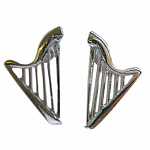 Music Gifts - Harp Earrings - Sterling Silver