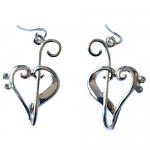Music Gifts - Heart of Clefs Earrings