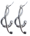 Music Gifts - Stylised Treble Clef Earrings