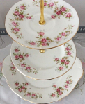 Duchess China June Bouquet - 3 Tier Cake Stand