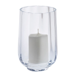 Dartington Little Treasures Clear Optic Hurricane Vase with Candle