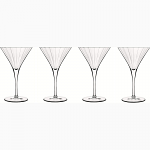 Luigi Bormioli Bach Martini Glasses 260ml C437 Set of 4