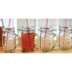 Country Mason Jar Mugs with Lid Set of 4