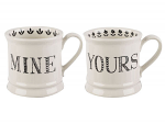 Creative Tops Mine & Yours Tankard Mugs Set of 2 Gift Boxed