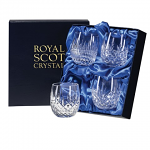 Royal Scot Crystal - Mixed Set of 4 Barrel Tumblers - Presentation Boxed