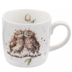 Royal Worcester Wrendale Designs - Mug - Owls - Birds of a Feather