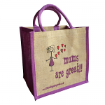Jute Shopping Bag - Mums are Great